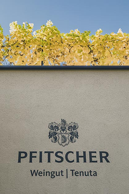 Pfitscher logo on the wall