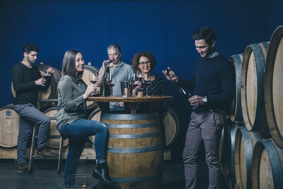 Pfitscher Family wine cellar